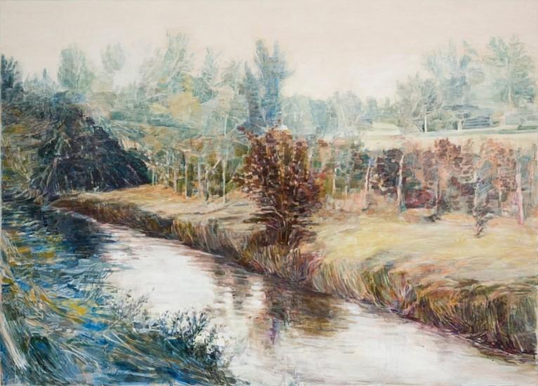 STEPHEN BATURA, OUTSKIRTS acrylic on panel