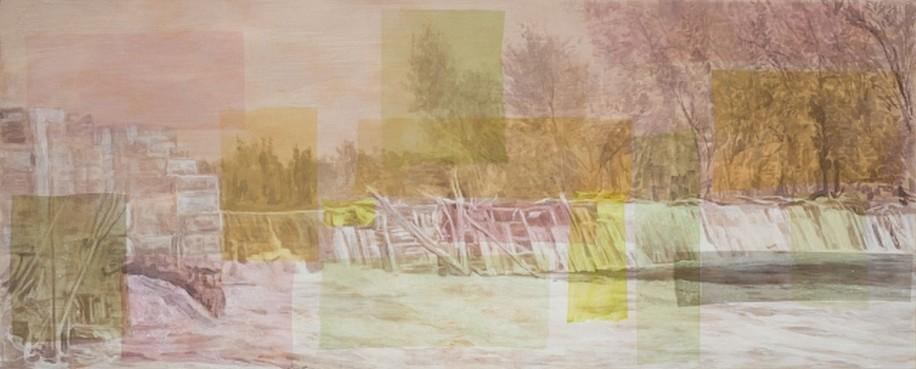 STEPHEN BATURA, STREAM # 11 acrylic on panel