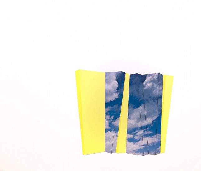 TYLER BEARD, CLOUDS WITH CANARY YELLOW collage on paper