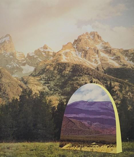 TYLER BEARD, LAND PORTAL (Grand Tetons to Mount Asama) collaged pigment print