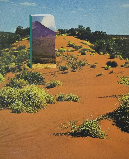 TYLER BEARD, LAND PORTAL (Simpson Desert to Mount Asama ) collaged pigment print