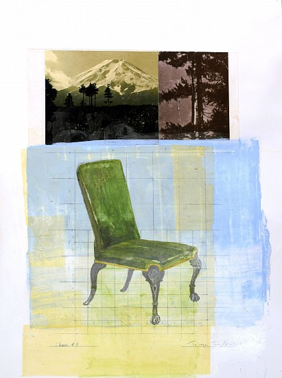 TOM JUDD, CHAIR #4 mixed media and paper