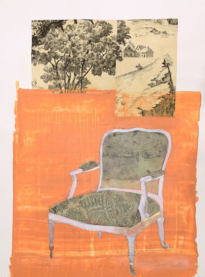 TOM JUDD, CHAIR #5 mixed media and paper