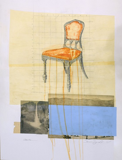 TOM JUDD, CHAIR #6 mixed media and paper