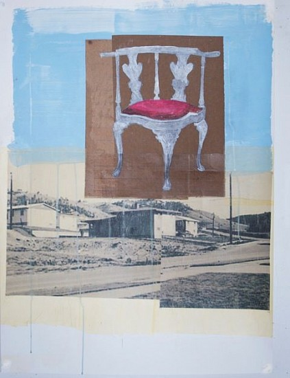 TOM JUDD, CHAIR #8 mixed media and paper