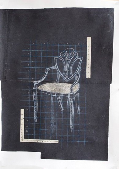 TOM JUDD, CHAIR #7 mixed media and paper