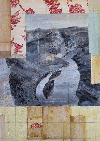 TOM JUDD, NO SUCH THING oil with collage on panel