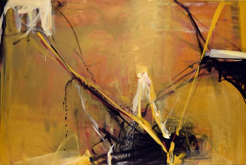 TOM LIEBER, OCHRE SHIFT oil on canvas