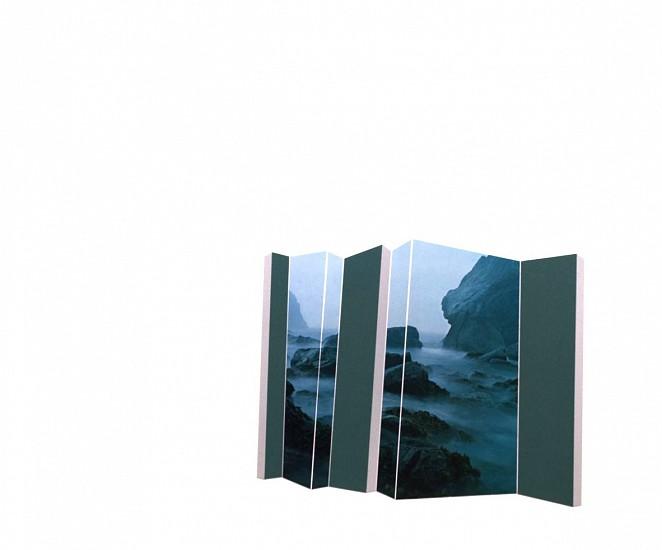 TYLER BEARD, MISTY SEA WITH DARK GREEN collage on paper