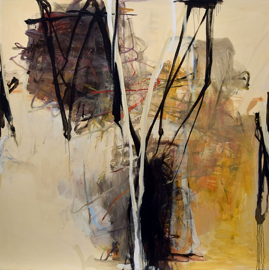 TOM LIEBER, WHITE OVER oil on canvas