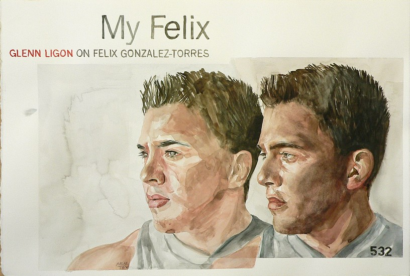 JACK BALAS, MUSE (MY FELIX, FELIX GONZALEZ-TORRES) watercolor on paper