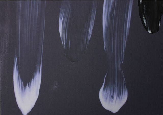 KATE PETLEY, COLD SLAP acrylic  and unique digital print on canvas