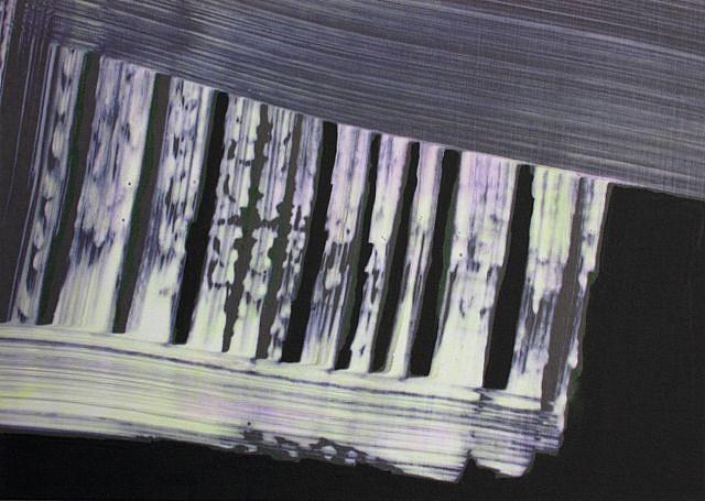 KATE PETLEY, DROPDOWN acrylic  and unique digital print on canvas