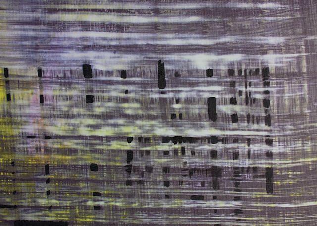 KATE PETLEY, PLACEMAT acrylic  and unique digital print on canvas