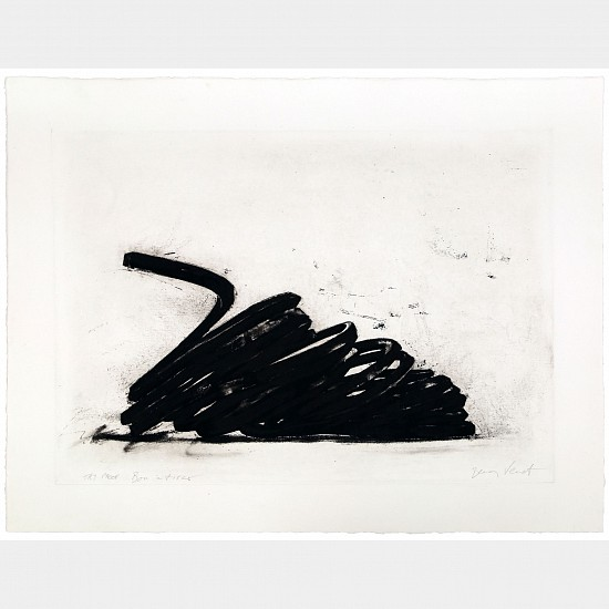 BERNAR VENET, EFFONDREMENT: INDETERMINATE LINES 19/40 EP-2 photo etching on copper plate