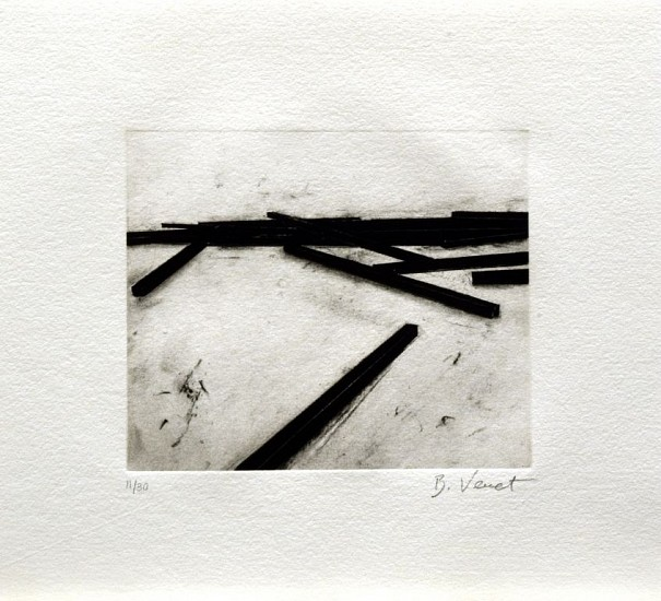 BERNAR VENET, ACCIDENT 11/30 photogravure, direct gravure, aquatint and dry point