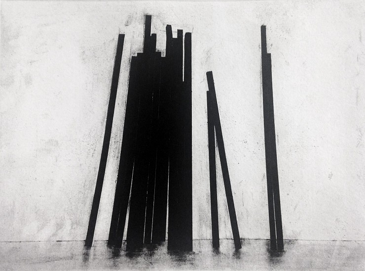 BERNAR VENET, LEANING STRAIGHT LINES 14/30 photogravure, direct gravure, aquatint and dry point