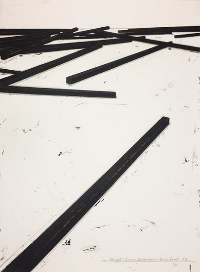 BERNAR VENET, STRAIGHT LINES/DISPERSION 16/50 silkscreen