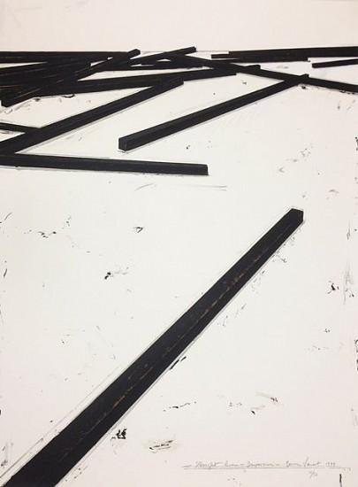BERNAR VENET, STRAIGHT LINES/DISPERSION 16/50 silkscreen