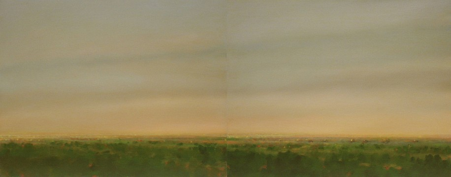 PETER DI GESU, MIRO'S ROAD I & II oil on canvas