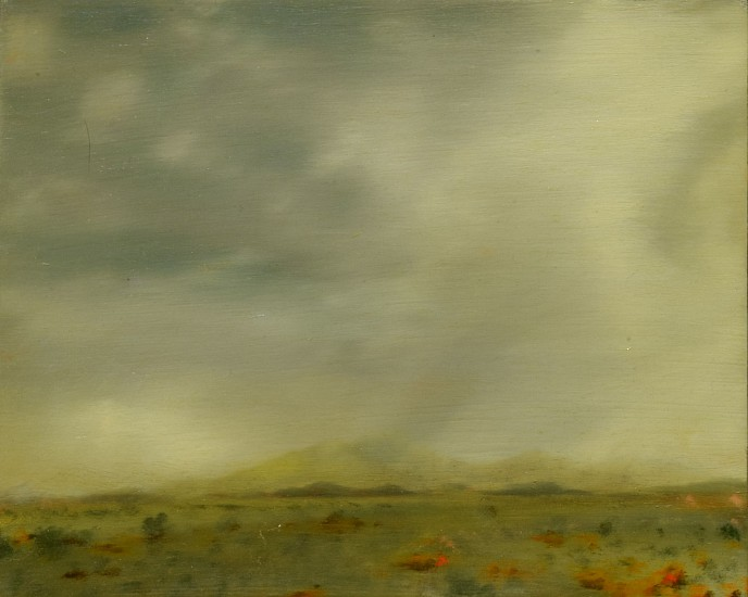 PETER DI GESU, NEAR NORTH PLATTE oil on panel