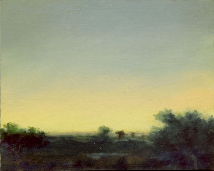 PETER DI GESU, NORTH PLATTE RIVER #9 oil on panel