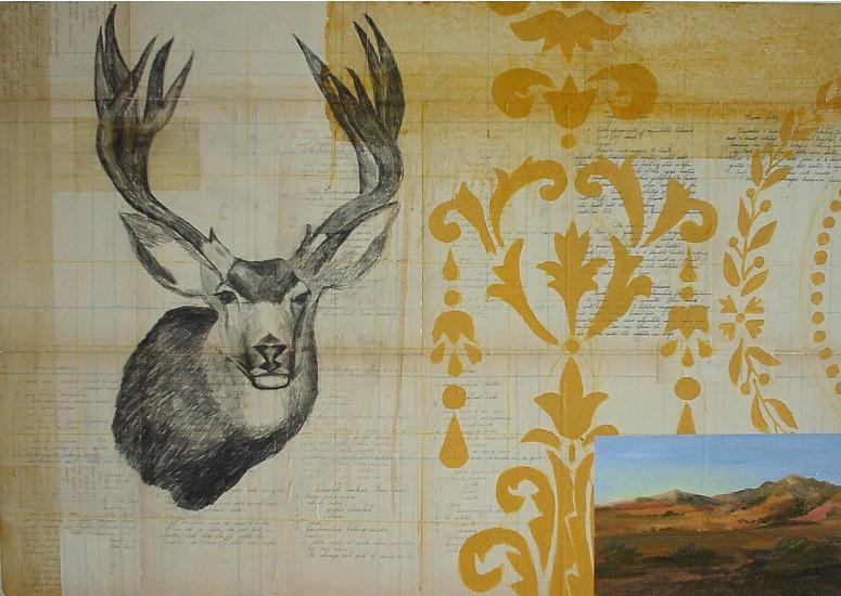 TOM JUDD, AUTUMN oil, graphite on collage on panel