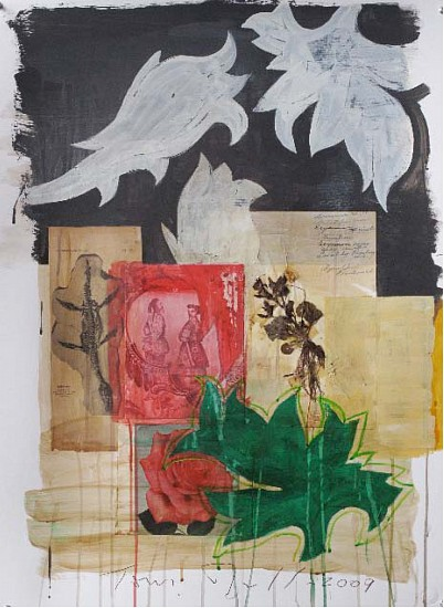 TOM JUDD, CHINA mixed media and paper