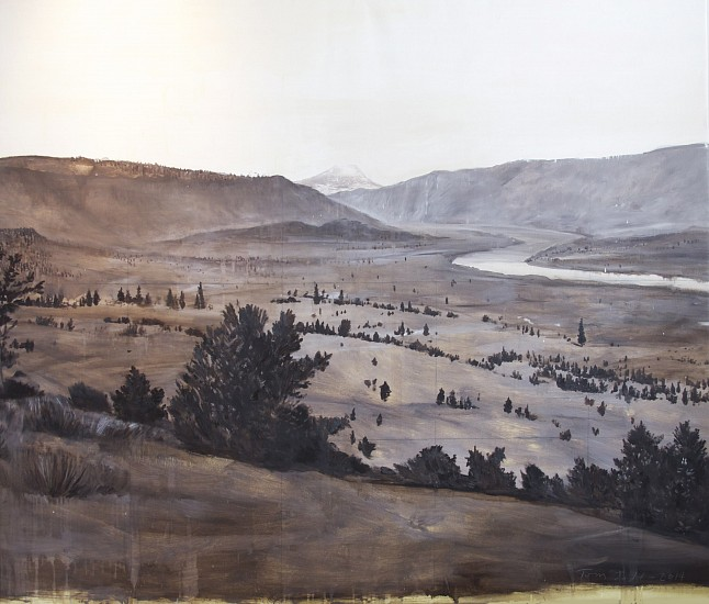 TOM JUDD, COLUMBIA RIVER oil on canvas