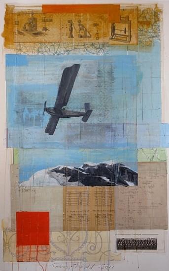 TOM JUDD, FLIGHT Acrylic on collage on Illustration board