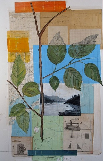 TOM JUDD, LAKE VIEW Acrylic on collage on Illustration board