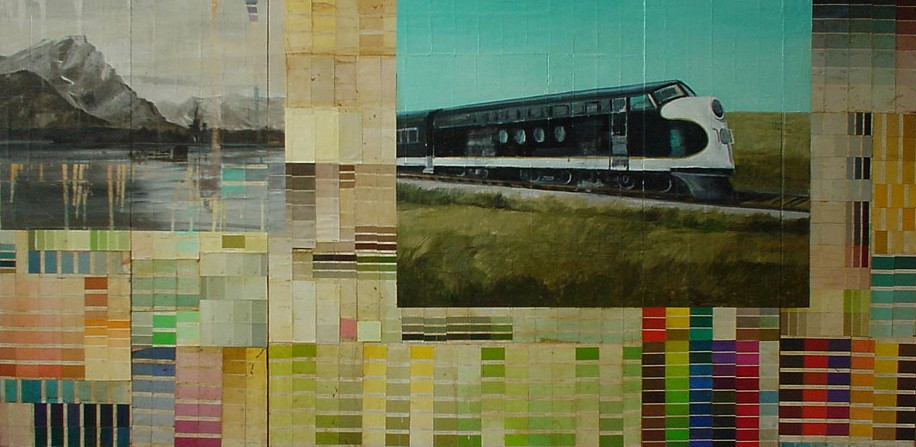 TOM JUDD, LOCAL oil, paint swatches, graphite on canvas on panel