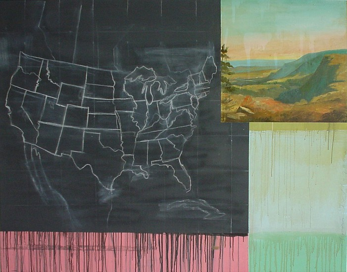 TOM JUDD, MAP oil and chalk on canvas