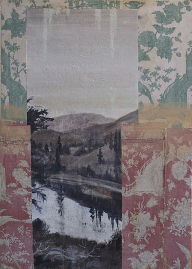 TOM JUDD, VIEW POINT oil on panel with fabric