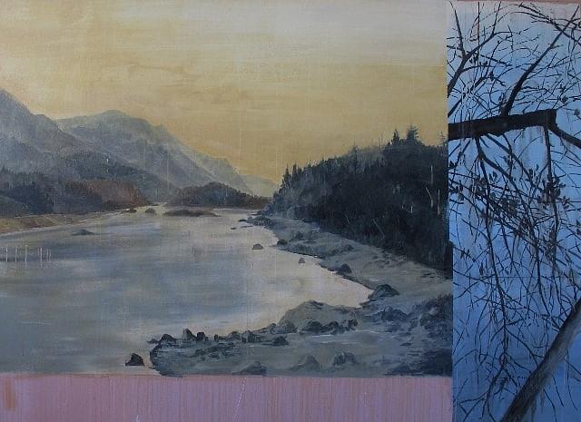 TOM JUDD, WINTER LAKE oil on canvas