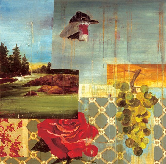 TOM JUDD, COLLECTION oil and wall paper on canvas