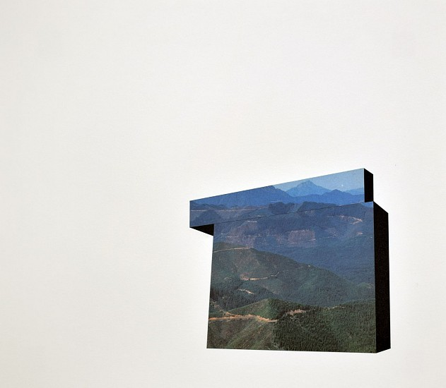 TYLER BEARD, ARCHITECTURAL LANDFORM 6 collage on paper