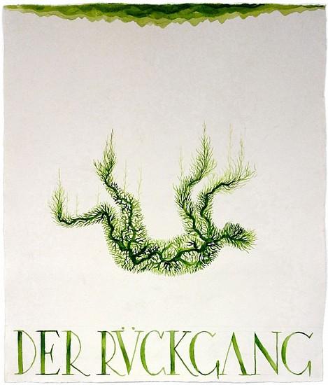 KAHN + SELESNICK, DER RUCKGANG 64 tempera on watercolor paper