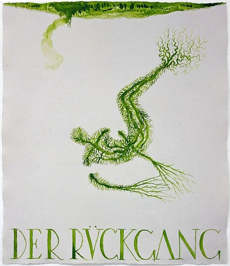 KAHN + SELESNICK, DER RUCKGANG 65 tempera on watercolor paper