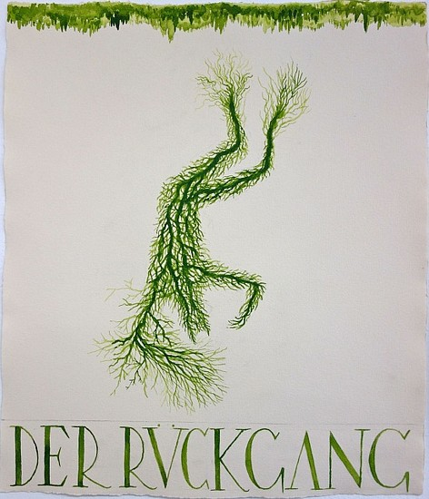 KAHN + SELESNICK, DER RUCKGANG 67 tempera on watercolor paper