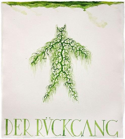KAHN + SELESNICK, DER RUCKGANG 71 tempera on watercolor paper