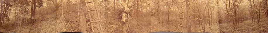 KAHN + SELESNICK, FAGGOT GATHERING PANORAMIC SURVEY PHOTOGRAPH sepia