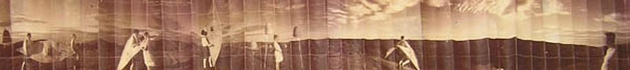 KAHN + SELESNICK, JUNIPER HELPS BINDON MACRUPERT TAKE FLIGHT AP 2 PANORAMIC SURVEY PHOTOGRAPH sepia