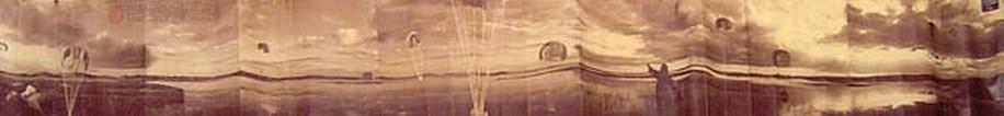KAHN + SELESNICK, PARACHUTE DROP AP 1 PANORAMIC SURVEY PHOTOGRAPH sepia
