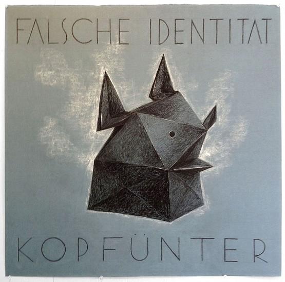 KAHN + SELESNICK, FALSCHE IDENTITAT KOPFUNTER charcoal on Arches paper