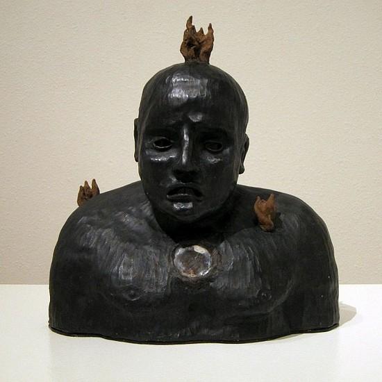 KAHN + SELESNICK, FEUERMENSCH terracotta, beeswax, microcrystilline wax, encaustic with light