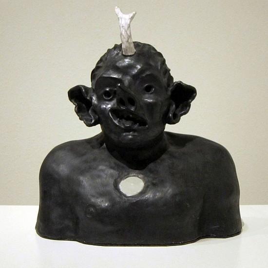 KAHN + SELESNICK, LUFTFLEDERMAUSMENSCH terracotta, beeswax, microcrystilline wax, encaustic with light