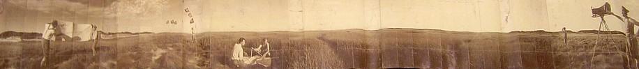 KAHN + SELESNICK, MAP READING 4/5 PANORAMIC SURVEY PHOTOGRAPH sepia