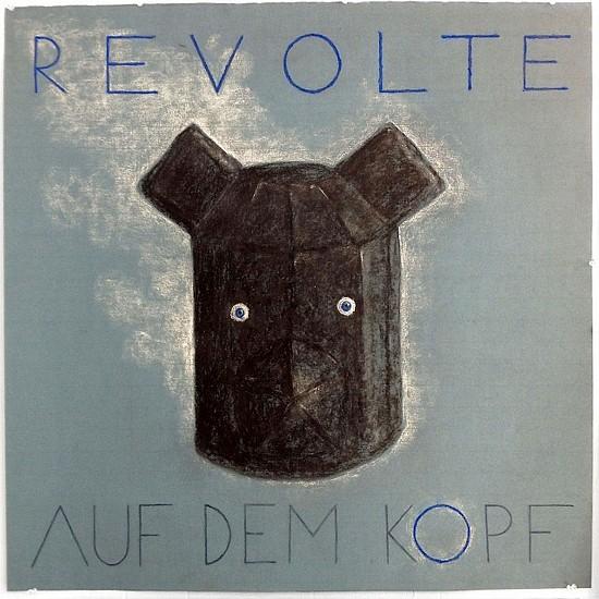 KAHN + SELESNICK, REVOLTE AUF DEM KOPF charcoal on Arches paper