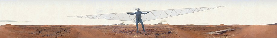 KAHN + SELESNICK, MARS GLIDER 5/10 archival digital print on Hanamule paper